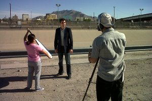 Ross Velton at the US-Mexico border