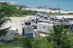 Uruguayan UN base in Port Salut, Haiti