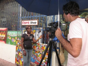 Ross Velton interviewing in Santo Domingo, Dominican Republic