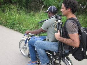 Ross Velton doing a story in the sugar cane plantations of the Dominican Republic