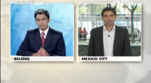Ross Velton reporting live on election day in Mexico