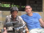 Ross Velton with a leprosy sufferer in Sri Lanka
